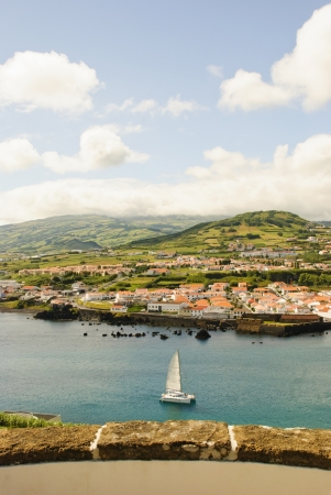 View to Horta city, Faial island, Azores