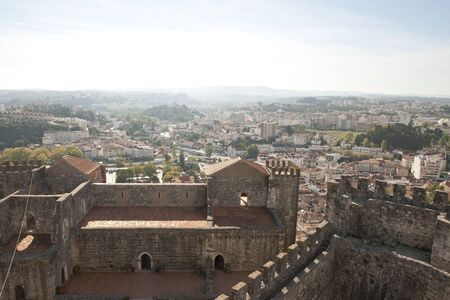 heritage protection: View to Leiria from the castle, Portugal