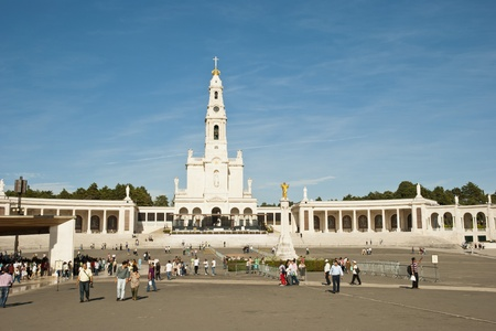 Fatima, Portugal - October 7, 2012  Pilgrims visiting catholic pilgrimage center in Fátima and attending ceremonies