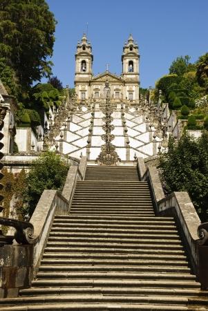 Bom Jesus do Monte church, famous landmark of Braga, Portugal  photo