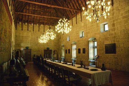 Inside Palace of Duques de Braganca, in Guimaraes, european capital of culture 2012