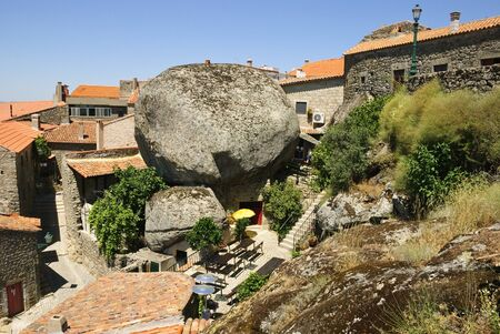 made in portugal: Old village made in giant stones, Monsanto, Portugal