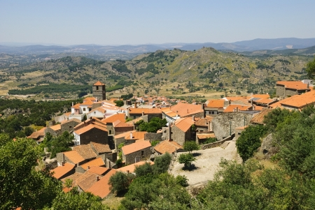 Old village made in giant stones, Monsanto, Portugal