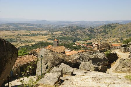 Old village made in giant stones, Monsanto, Portugal photo