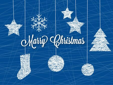 Hanging christmas decoration  Vector