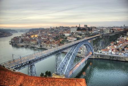View over Ponte Luis I bridge, Porto, Portugal Stock Photo