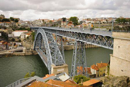 Ponte Luis I bridge, Porto, Portugal photo