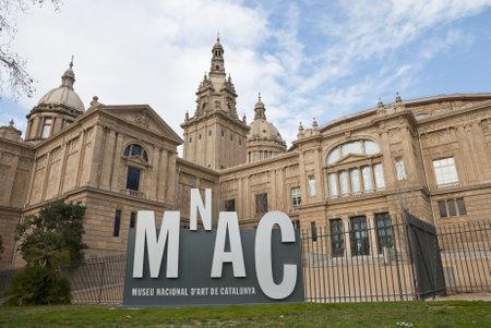 National museum of Catalonian art, Bacelona, Spain Editorial