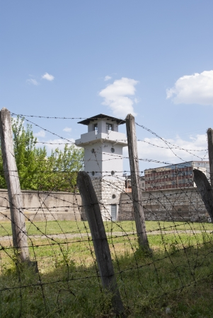 concentration camp: Viewing tower over the concentration camp in Nis, Serbia