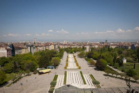 SOFIA, BULGARIA - APRIL 30: View over city of Sofia, the capital of Bulgaria. In Sofia, Bulgaria on April 30, 2013 Editorial