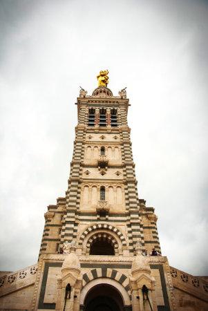 garde: Tower of Notre Dame de la Garde cathedral, Marseille Editorial