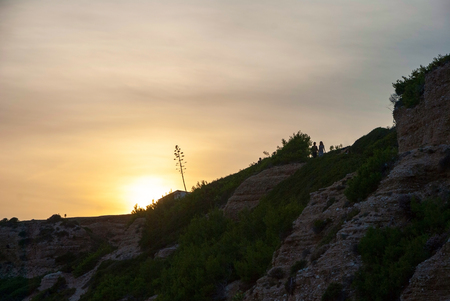 Sunset in Cananques natural park, Marseille