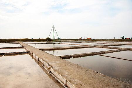 evaporation: Salty evaporation ponds in Aveiro, Portugal