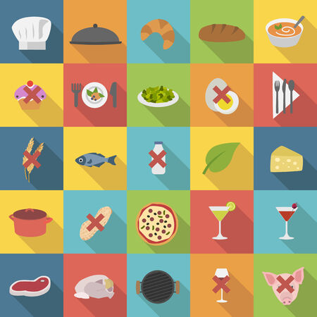 Chefs icons set for restaurants menu and cooking Vector