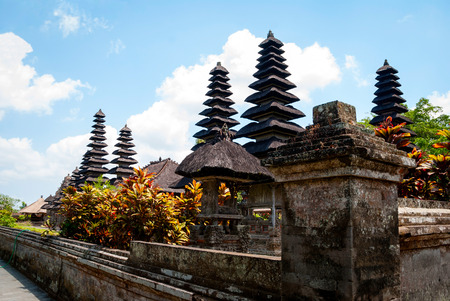 Typical small hindu temple in Bali, Indonesia