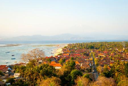 nusa: Panoramic view over Nusa Lembongan island, Indonesia Stock Photo