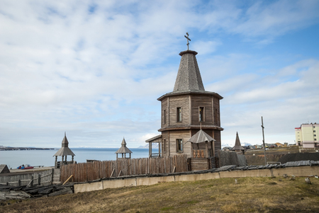 Russian orthodox church in Barentsburg, Svalbard, Norway