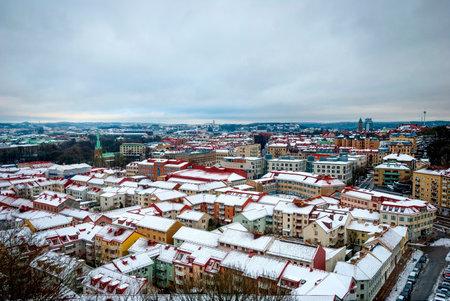 gothenburg: Gothenburg skyline in winter, HDR photo, Sweden