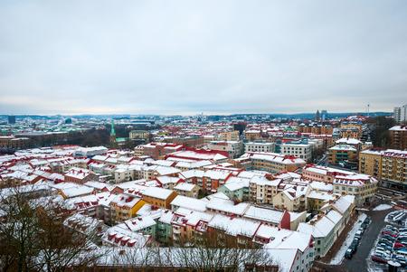 gothenburg: Gothenburg skyline in winter, Sweden