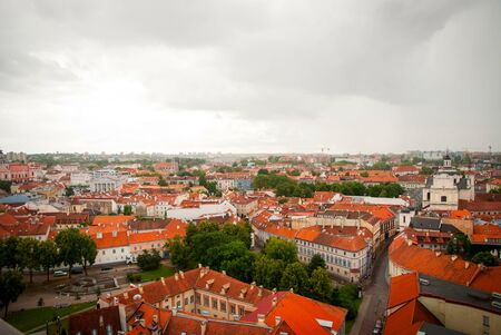 storm coming: View over Vilnius with storm coming over, Lithuania