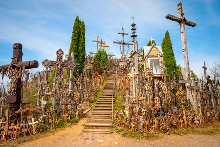 crucifixion: Hill of crosses, Kryziu kalnas, Lithuania