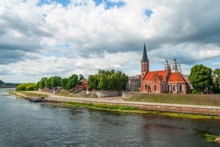 kaunas: Old church in Kaunas by the Nemunas river, Lithuania