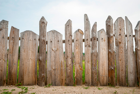 fence: Wooden fence planks