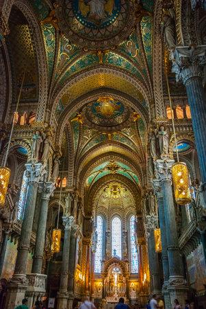 john the baptist: Interior of Lyon cathedral of dedicated Saint John the Baptist Editorial