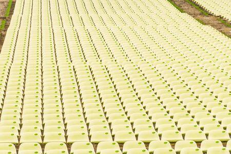 numerous: Numerous seats in rows on stadium Stock Photo