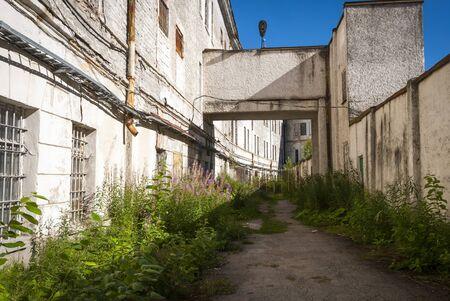 View on Patarei prison yard, Tallinn, Estonia