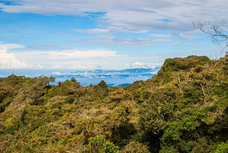 highlands: Hills in Cameron highlands in sunlight, Malaysia Stock Photo