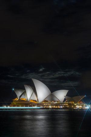 sydney opera house: Sydney opera house at night, long exposure photo