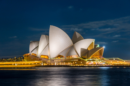 ocean of houses: View on Sydney Opera house at night, long exposure
