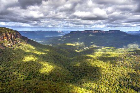 blue mountains: View over blue mountains national park, Australia Stock Photo