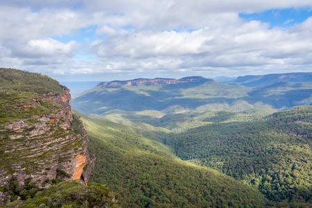 View over blue mountains national park, Australia Stock Photo
