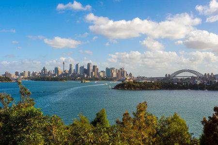 SYDNEY, AUSTRALIA - APRIL 24: Sydney skyline with Opera house and Harbour bridge, one of most recognizble citys landmarks. April 2016