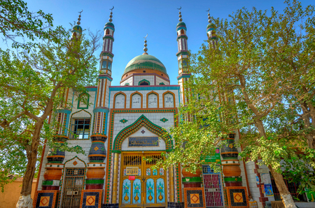 Mosque in Turpan Xinjiang Uyhgur autonomous region China Stock Photo