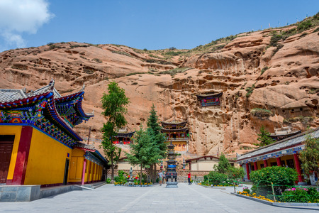 Cave temple at Horse's Hoof Temple Mati Si Zhangye Gansu province China