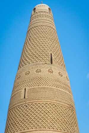 minaret: Emin minaret the highest minaret in China. Turpan Xinjiang Stock Photo