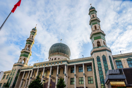 View to Xining Dongguan Grand Mosque the largest mosque in Qinghai China Stock Photo
