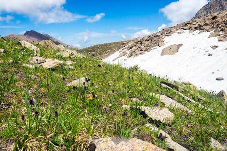 ata: View from the hills at Medeu ski center in summer, Kazakhstan Stock Photo