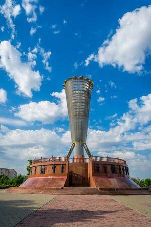 urbanism: View over installation in Independence park, Shymkent, Kazakhstan