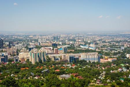 View over Almaty skyline, Kazakhstan Stock Photo