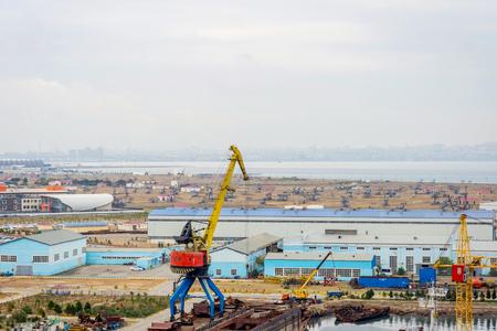 Industrial port and shipyard, Baku, Azerbaijan