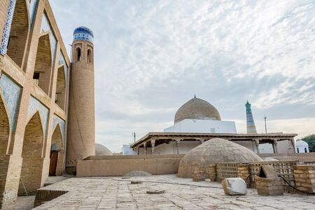 View over Khiva old town with the old walls and domes, Uzbekistan Stock Photo