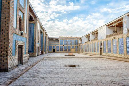 Atrium or the old madrassa in Khiva old town, Uzbekistan
