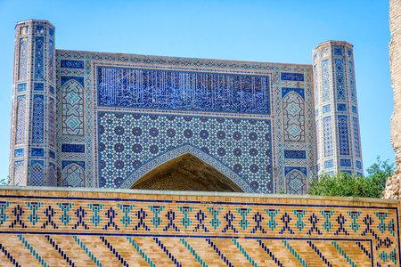 Registan mausoleum, famous landmark of Samarkand, Uzbekistan