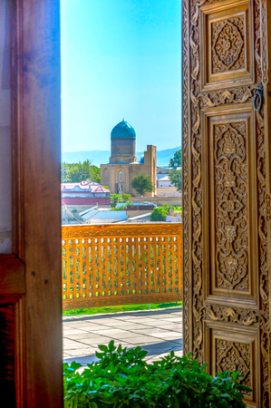xv century: View to Bibi Khanum mausoleum, Samarkand, Uzbekistan. HDR photo