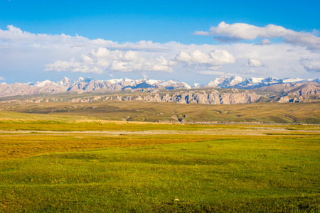 Scenic landscape of Tian Shan mountains, Kyrgyzstan Stock Photo
