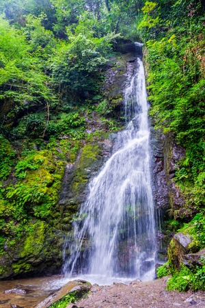Tsablnari waterfall, Mtirala national park, Batumi, Georgia 스톡 콘텐츠